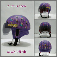 Helm Anak Chip Retro Kulit Klasik Motif Frozen Kecil Un Diskon