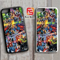Avengers Vs Justice League X1062 iPhone 4, 4S, 5, 5S,5C, 6, 6S, 6 Plus