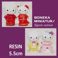 Jual Boneka Miniatur Hello Kitty Wedding Sepasang Murah