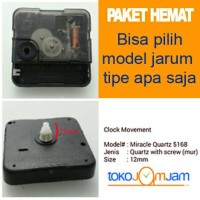 Mesin Jam Dinding Quartz 12mm ganti Jarum