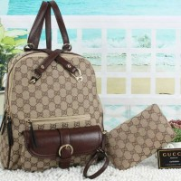 Tas Ransel Gucci Backpack & Top Hundle Gucci 228A
