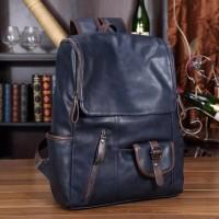 Jual Tas Ransel Kulit Kantor Pria Wanita Man Woman Soft Leather Laptop Bag Murah