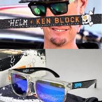 Spy HELM Ken Block Splatter 90 Clear - Grey W/Blue MXQY