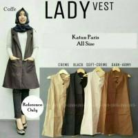 Jual Busana Muslim Atasan Dree Blouse Tunik Long Coat Vest Lady Murah