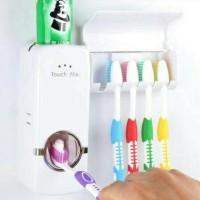 Dispenser Odol / Pasta Gigi dan Tempat Gantungan 5 Sikat Gigi