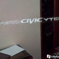 Stiker Kaca Honda Ferio CIVIC VTEC