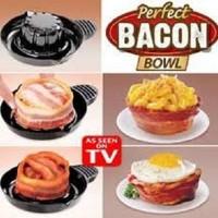 Perfect Bacon Bowl,alat pembuat pancake daging,kue,roti,teflon pangang