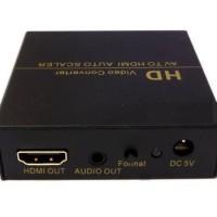 [NETLINE] AH1308 AV / RCA (Composite) to HDMI Auto Scaler w/ Adaptor