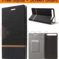 Stripe Leather Flip Case Book Cover - Lenovo Phab Plus 6.8'