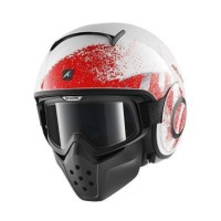 Helm Shark Raw Outcast White Red