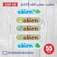 sticker label nama anak kartun cowok laki-laki dino mainan SLNAP-046