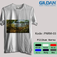 Kaos Gildan Softstyle - Gambar Panorama / Pemandangan Alam - Zoo