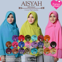 Hijab/Jilbab/Khimar Aisyah Pet Premium Bagus Mewah Bahan Adem Murah