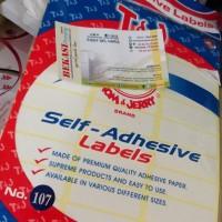 Sticker Label Undangan Nomor 107 Polos
