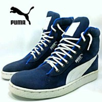 sepatu kets gaya simple modern fungky pria puma sneakers high