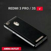 Jual Leather Xiaomi Redmi 3 Pro / 3S Back Case Soft Premium Casing Kulit Murah