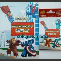 Jual Set Buku Aktivitas & Pensil Warna Box Tema Lego Superhero Murah