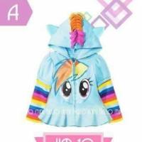 Jaket Little pony size 2 - 10 tahun
