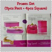 Jual Frozen Set Tupperware Rectangular + Square Murah