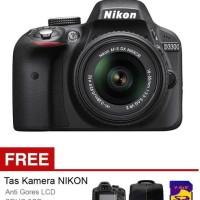 Nikon D3300- 24MP - Lensa Kit 18-55mm VR II - Hitam