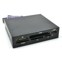 Computer PC Front Panel All in One Card Reader USB 2.0 3.5 Inch