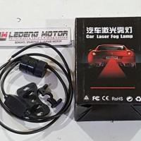 Car Laser Stop Garis Merah Fog Lamp Universal Mobil Motor Anti Kabut