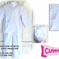Baju Koko Anak Cutetrik Putih/Manasik 3,4,5,6,7 tahun