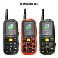 Brandcode B81 Hitam, HP Powerbank Model Outdoor, Radio, Dual SIM