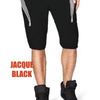Joger Pants Pria Jogger Sweatpants Celana Sedengkul JACQUE Hitam Black - Abu-abu Muda, M