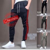 Celana Training Panjang/Sweatpants/Jogger Pants-Carlton Navy Okechuku