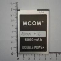 baterai advan M6 barca M6 BP-50AA double power merk mcom
