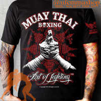 Jual Muay Thai Boran Red - KB160 - Kaos Muaythai Ju jitsu Taekwondo Karate Murah
