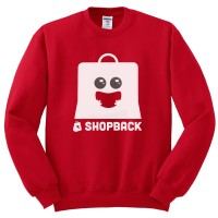 Sweater Shopback - Merah