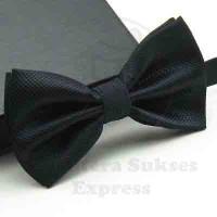 dasi kupu kupu import hitam black grosir dan eceran bisa utk wedding