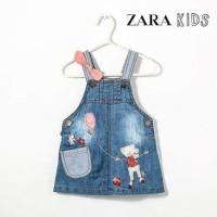 Denim Zara Kids Overall Jeans Zara Ribbon Mouse