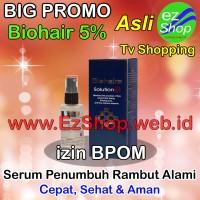Bio Hair Solution 5% Serum Penumbuh Rambut Alami Tonic Biohair