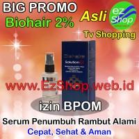 Bio Hair Solution 2% Serum Penumbuh Rambut Alami Tonic Biohair