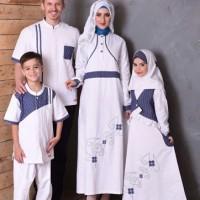 Baju Gamis Anak Muslimah Murah Nibras NSA 36 Putih Size P9