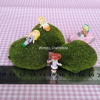 harga rumput palsu dekorasi miniature terrarium fairy garden mini garden Tokopedia.com