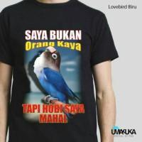 LOVE BIRD BLUE - Kaos 3D Umakuka Tsirt 3D Bandung