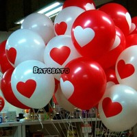 Baloon love - Balloon valentine - balon merah putih - hati