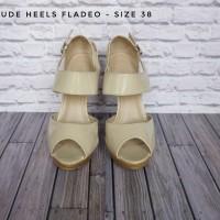 High Heels Murah / Sepatu Pesta / Nude Heels / Sepatu Fladeo