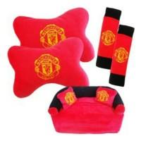 Jual Bantal mobil 3 in 1 Manchester United Murah
