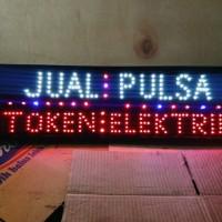 tulisan lampu led / led sign jual pulsa token elektrik