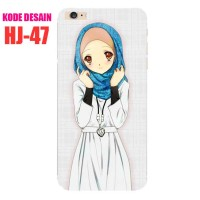 HJ-47 Hijab Custom Case Casing Softcase Iphone Samsung Xperia Oppo