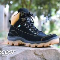 Sepatu Online Bandung Azcost Safety Kulit Buk mercy Black