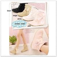 harga Ankle Boots Flats Heels Sepatu Kulit Wanita Cewek Korea Import Murah Tokopedia.com