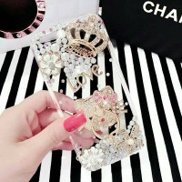 iphone samsug hello kitty iring crown love swarovski case