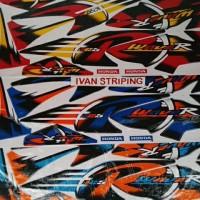 stiker / striping motor karisma wave R