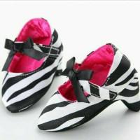 Jual Sepatu prewalker bayi perempuan import Zara zebra pita high heels Murah